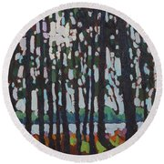 Through The Opinicon Forest Round Beach Towel