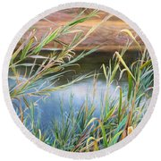 Through The Thickets Round Beach Towel