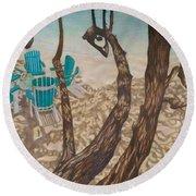 Through The Trees, St John Round Beach Towel