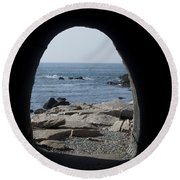 Through The Tunnel Round Beach Towel