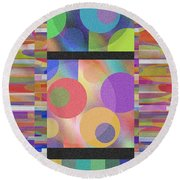 Through Thick And Thin Round Beach Towel