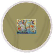 Through Time And Space Round Beach Towel
