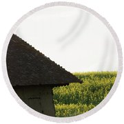 Through Two You Round Beach Towel