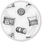 Throw Pillows Round Beach Towel