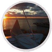 Sunrise @ Lake Round Beach Towel
