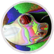 Thumb Mouse Round Beach Towel
