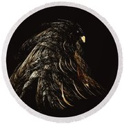 Thunder Bird Round Beach Towel