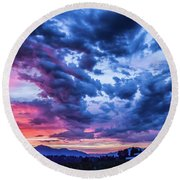 Thunder Storm Round Beach Towel