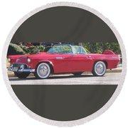 Thunderbird Classic 1955 Round Beach Towel
