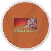 Thunderhead Round Beach Towel