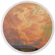 Thunderheads Round Beach Towel