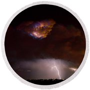 Thunderstorm Boulder County 08-15-10 Round Beach Towel by James BO  Insogna
