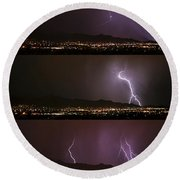 Thunderstorm Sequence Round Beach Towel