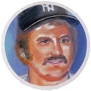 Thurman Munson Round Beach Towel