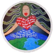 Tiamat Round Beach Towel