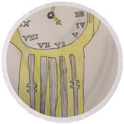 Tick Tock Round Beach Towel