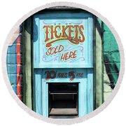 Ticket Window For Show Tickets Round Beach Towel