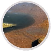 Tide Pool With Coquina Rock Round Beach Towel