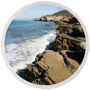 Tide Pools Area Round Beach Towel