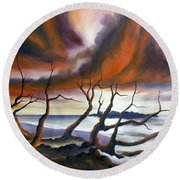 Tideland Round Beach Towel by James Christopher Hill