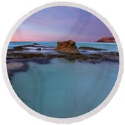Tidepool Dawn Round Beach Towel