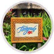 Tidepools Restaurant Round Beach Towel
