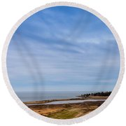 Tides Out Round Beach Towel