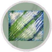Tie Dye Art. Rainforest In Spring Round Beach Towel