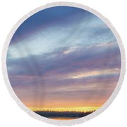 Tied Off In French Village, Nova Scotia Round Beach Towel
