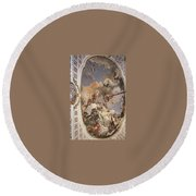 Tiepolo Palacio Real The Apotheosis Of The Spanish Monarchy Giovanni Battista Tiepolo Round Beach Towel
