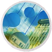 Tiffanys Round Beach Towel