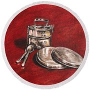 Tiffin Carrier - Still Life Round Beach Towel