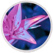 Tiger Lily Abstract Round Beach Towel