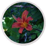 Tiger Lily In June 2018 Round Beach Towel