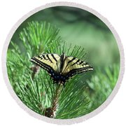 Tiger Swallow Tail Round Beach Towel