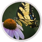 Tiger Swallowtail 2 Round Beach Towel