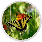 Tiger Tail Beauty Round Beach Towel