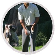 Tiger Woods P Round Beach Towel