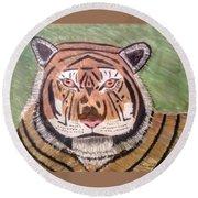 Tigerish Round Beach Towel