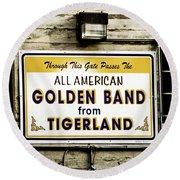 Tigerland Band Round Beach Towel