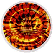 Tiger's Eye Round Beach Towel