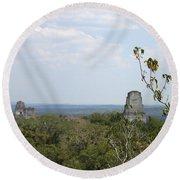 Tikal IIi Round Beach Towel