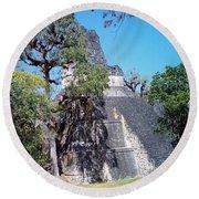 Tikal Iv Round Beach Towel