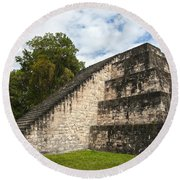 Tikal Mayan Site Guatemala Round Beach Towel