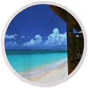Tiki Hut Round Beach Towel
