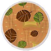 Tiki Lounge Wallpaper Pattern Round Beach Towel