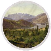 Tile Fjord Round Beach Towel