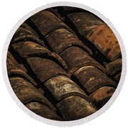 Tile Roof 1 Round Beach Towel