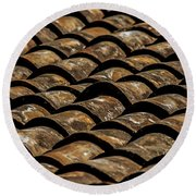 Tile Roof 2  Round Beach Towel