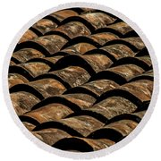 Tile Roof 3 Round Beach Towel